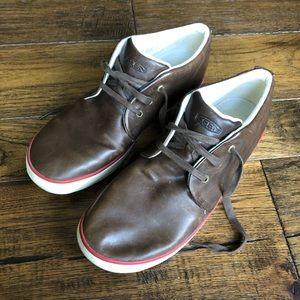 KEEN Santa Cruz Leather Brown leather sneakers